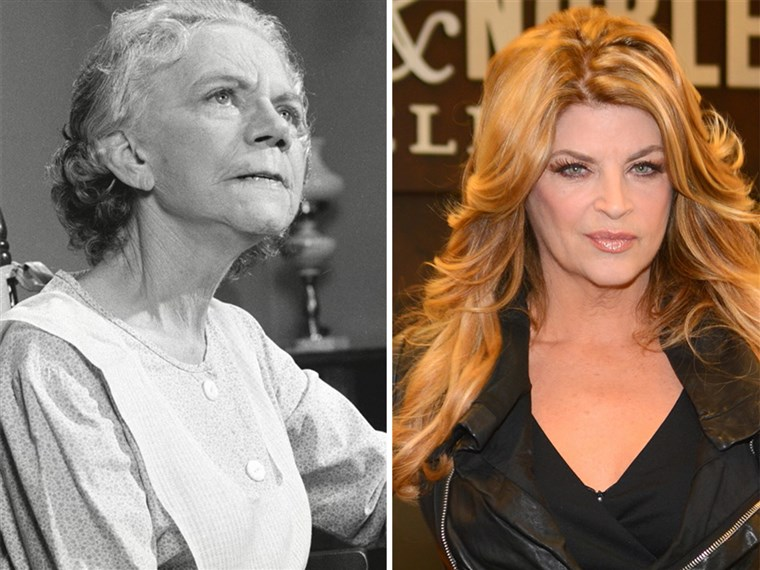 Ellen Corby, left, and Kirstie Alley, right, show how different 60 looks these days.