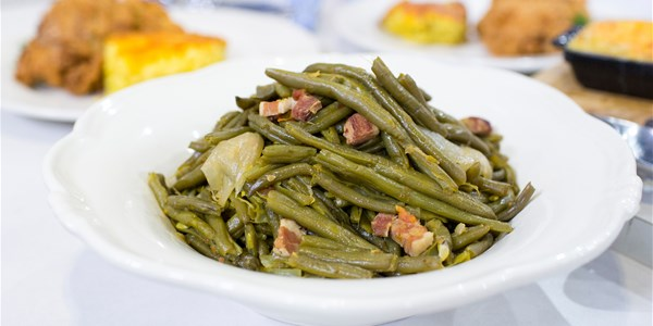 Savannah's Mom's Kentucky Wonder Green Beans with Bacon