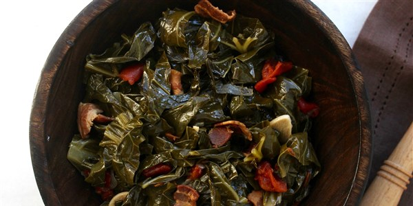 Usporena Štednjak Collard Greens with Bacon