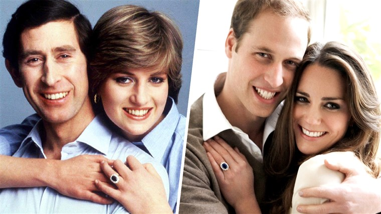 Herceg Charles and Princess Diana embrace for an informal portrait on their wedding day in this July 29, 1981. Britain's Prince William and Kate Middleton pose in one of two official engagement portraits in the Cornwall Room at St James's Palace in London on November 25, 2010.