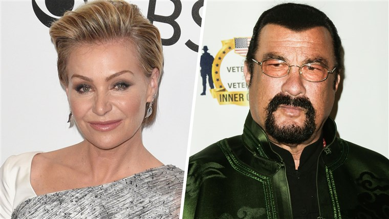 Ellen DeGeneres says she's proud of wife Portia de Rossi for raising harassment claims against Steven Seagal