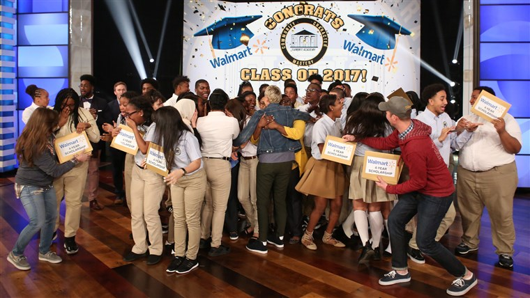 ה students at Brooklyn's Summit Academy Charter School on the Ellen DeGeneres show