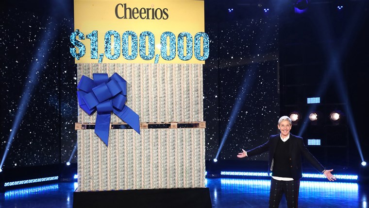 DeGeneres hopes to make kindness and good deeds as numerous as Cheerios. This audience gift certainly makes life a little easier for her lucky fans.