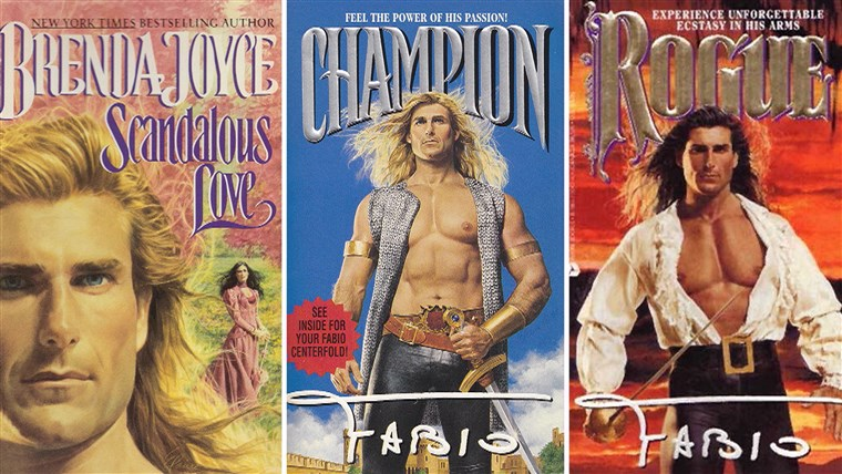 Fabio's face and pecs adorned any number of romance novels at one point.