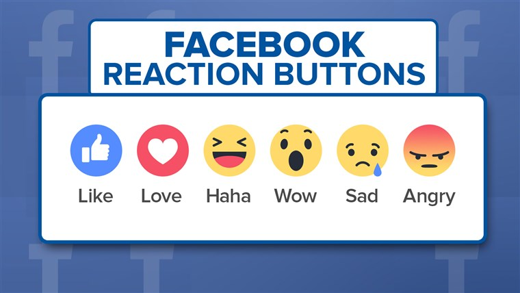 फेसबुक's new reaction buttons