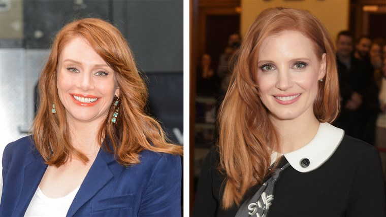 מפורסם Doppelgangers: Jessica Chastain and Bryce Dallas Howard