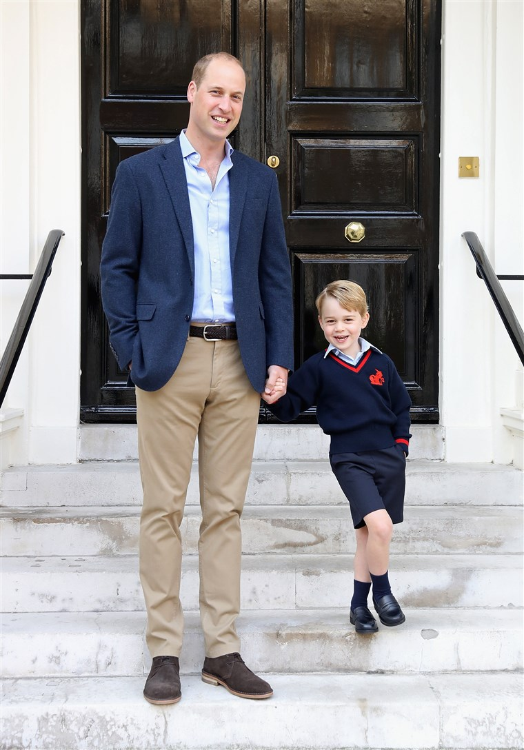 Kép: Prince George Attends Thomas's Battersea On His First Day At School