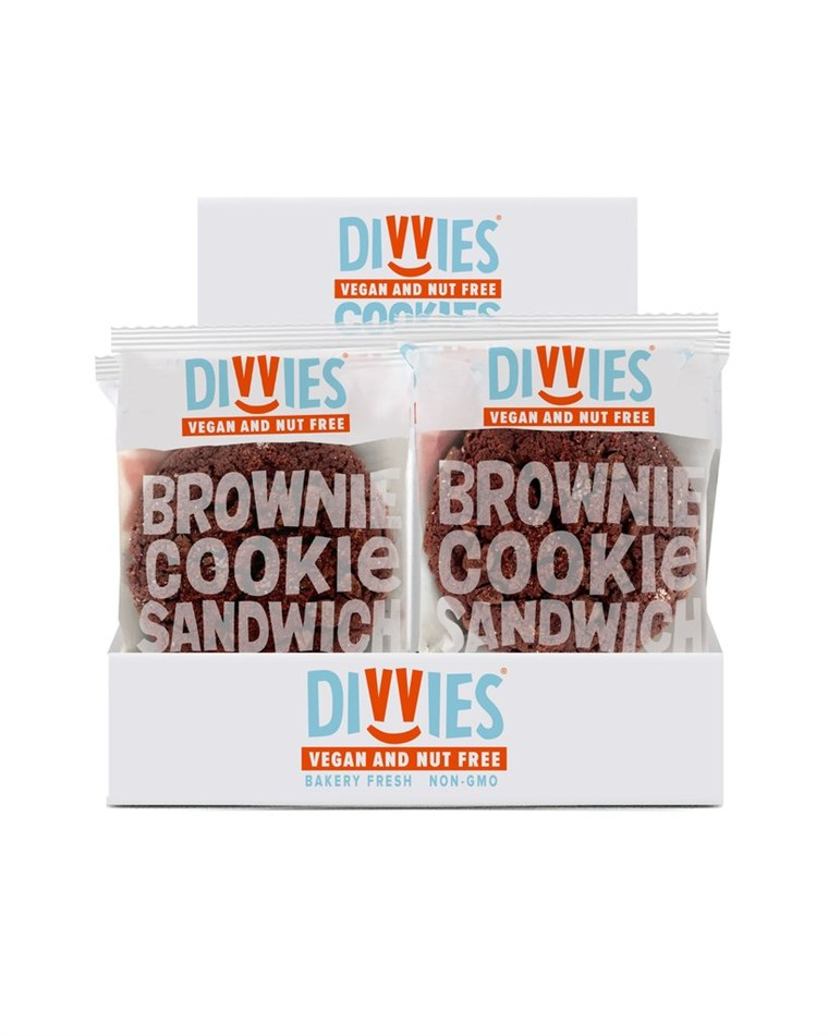 Divvies Vegan and Nut Free Brownie Cookie Sandwiches
