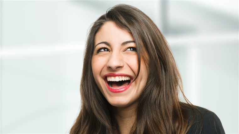 portré of a very happy woman laughing; Shutterstock ID 130210283; PO: laugh-stock-tongue-twister-today-tease-151106; Client: TODAY Digital