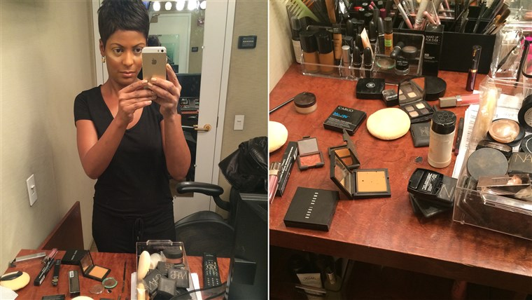 तीस minutes or less: The Tamron Hall Makeup Rule.