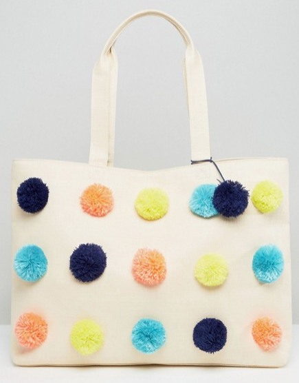 ASOS BEACH Multi Pom per Bag