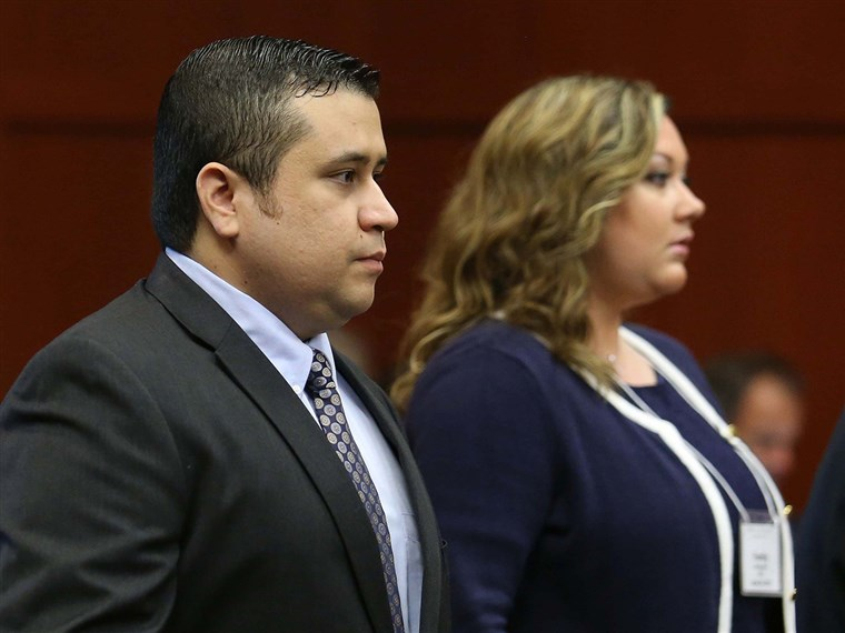 ג 'ורג' Zimmerman, left, arrives in Seminole circuit court, with his wife Shellie, in Sanford, Fla., Monday, June 24, 2013. Zimmerman is accused in the...