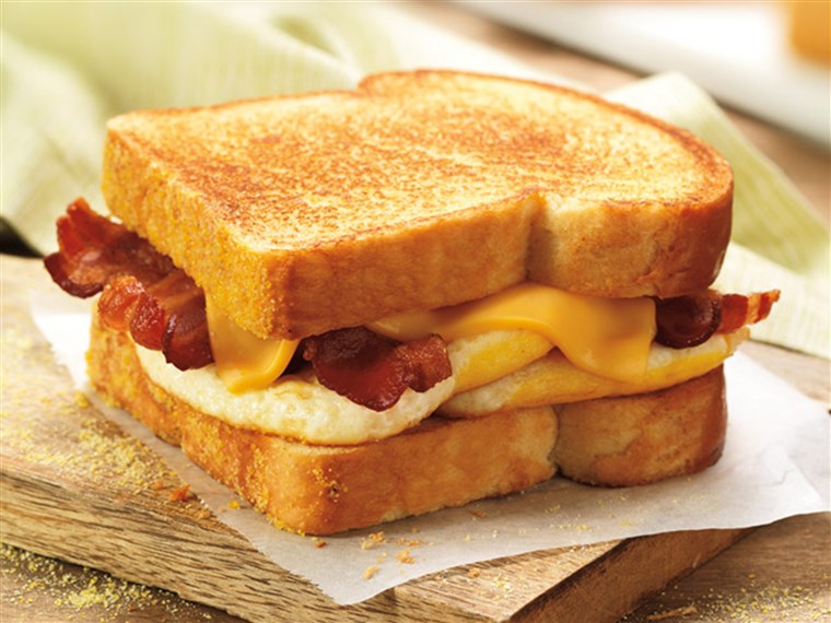 ה big n' toasted breakfast sandwich is among the items leaving the Dunkin' Donuts menu.