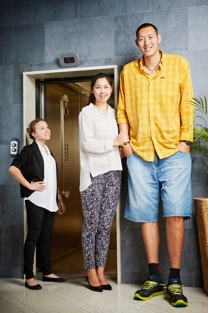 crno pivo World Records tallest married couple Sun Mingming and Xu Yan