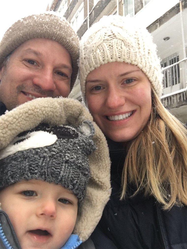 Richard Engel with wife Mary and son Henry, who has Rett syndrome.