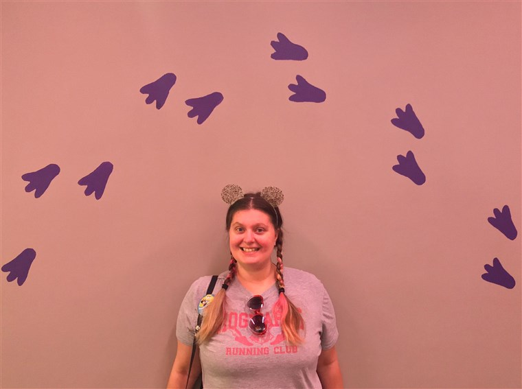 Gillian Clopton recently started an Instagram account for Epcot's Figment Wall.