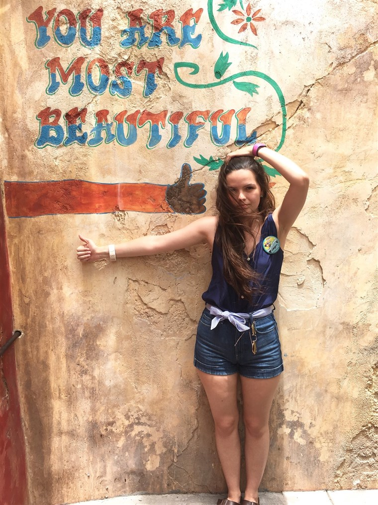 Megan Branch maintains the Instagram account for Animal Kingdom's You Are Most Beautiful Wall.