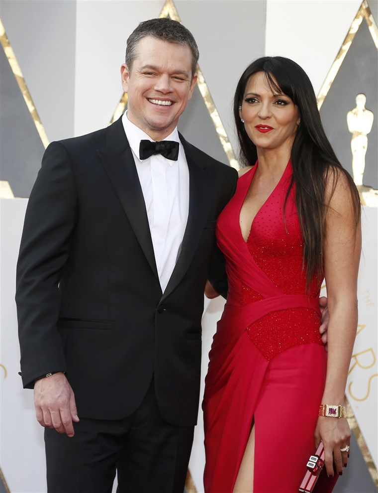 Kép: Matt Damon, nominated for Best Actor for his role in