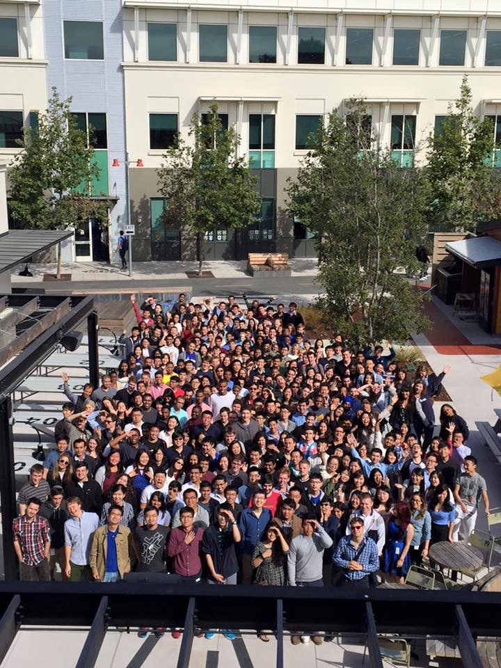 2016 Facebook interns; Facebook consistently runs one of the top internship programs in the U.S.