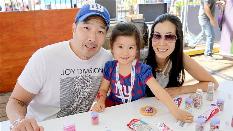 Lisa Ling, Paul Song and daughter Jett Ling Song