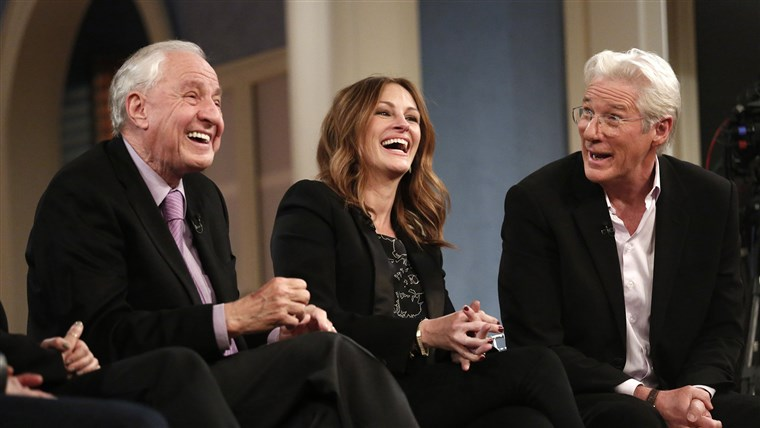 Garry Marshall, Julia Roberts and Richard Gere