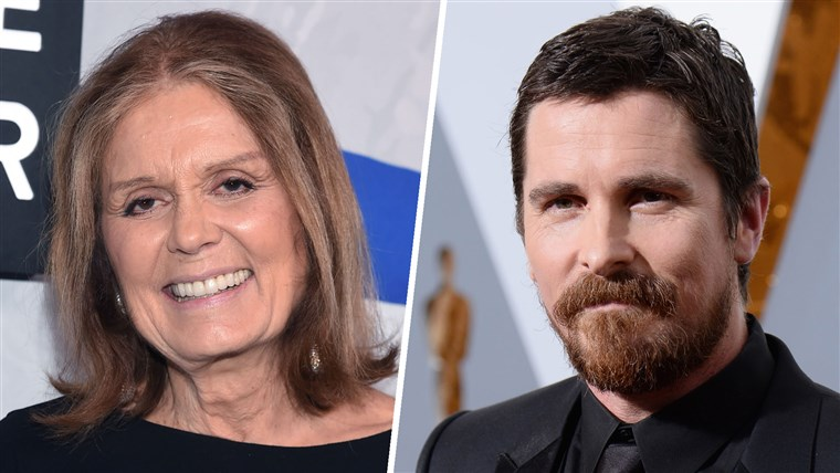 גלוריה Steinem and Christian Bale