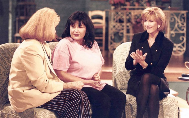 Leeza Gibbons and Roseanne Barr