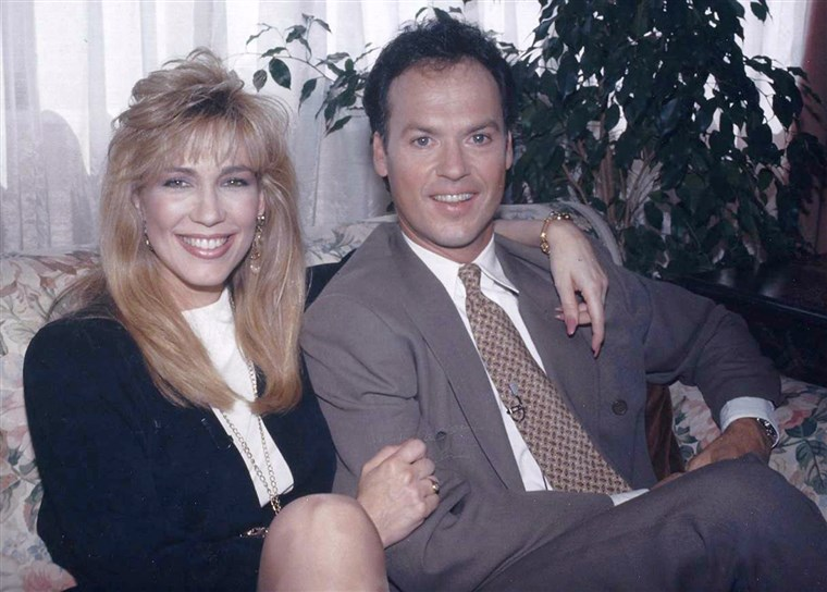 Leeza Gibbons and Michael Keaton