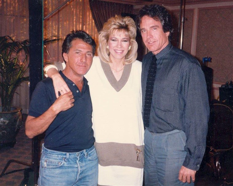 Leeza Gibbons with Dustin Hoffman and Warren Beatty