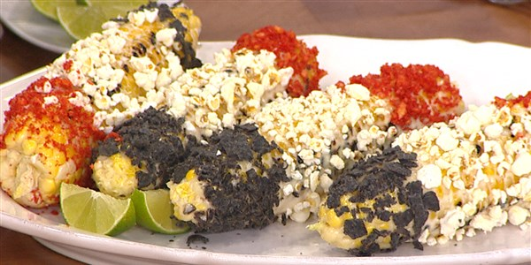 Napos's Red, White and Blue Grilled Corn