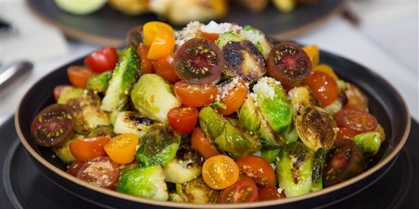 नींबू, Pepper and Parmesan Brussels Sprouts