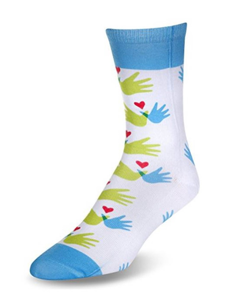 इन socks, $12, raise awareness (and funds) for Williams Syndrome.