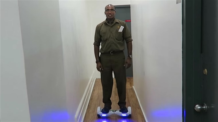 Marlan Franklyn, Hover Board Delivery Man