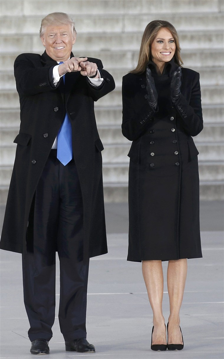 Donald and Melania Trump inauguration outfit