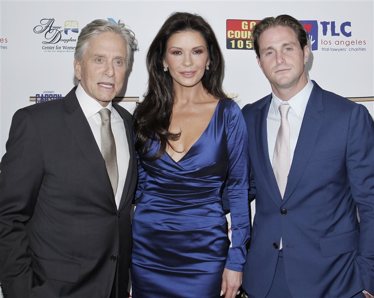 מיכאל Douglas, Catherine Zeta-Jones and Cameron Douglas