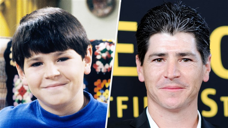 Michael Fishman as young D.J. Conner and as he looks today. The actor says the new season of