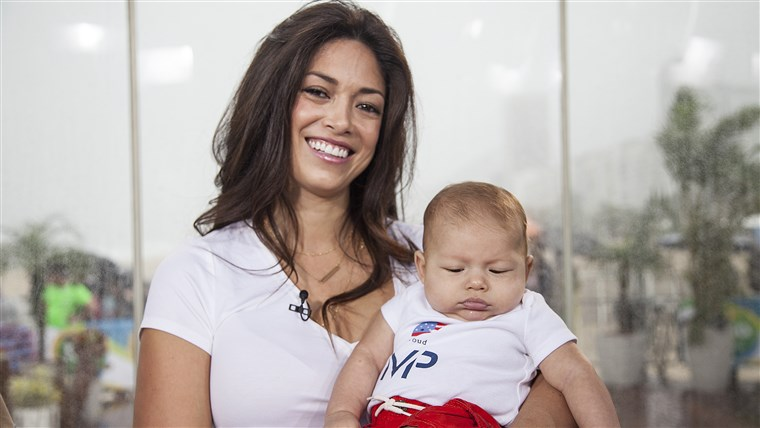 מיכאל Phelps' fiance, Nicole Johnson