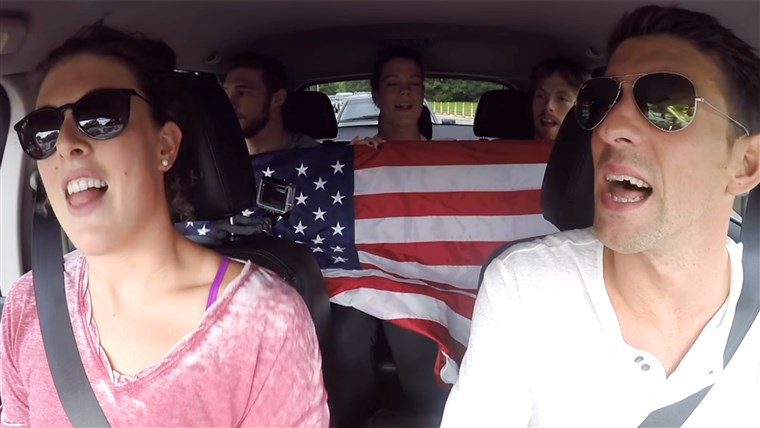 2016 USA Olympic Swim Team Carpool Karaoke