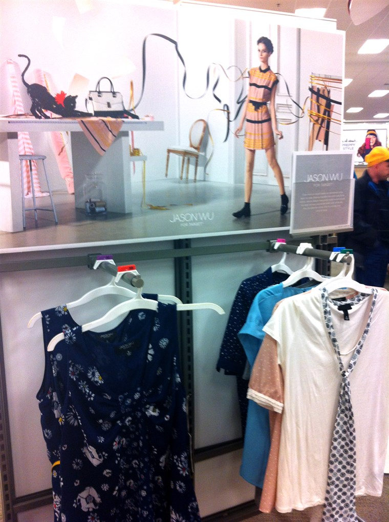 ה dress worn by Michelle Obama is still available in some Target stores, including this one in Clifton, N.J.