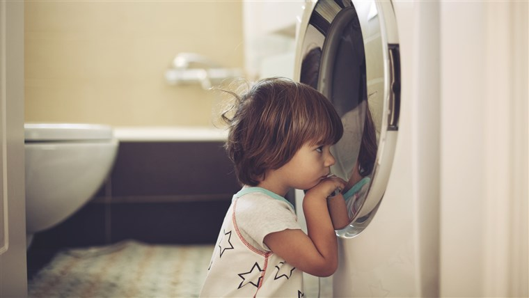 ל protect your children from washer and dryer entrapment, experts suggest engaging any appliance safety features, locking the door to the room where you keep appliances and purchasing a safety lock as well as talking to your kids about the dangers, among other measures.