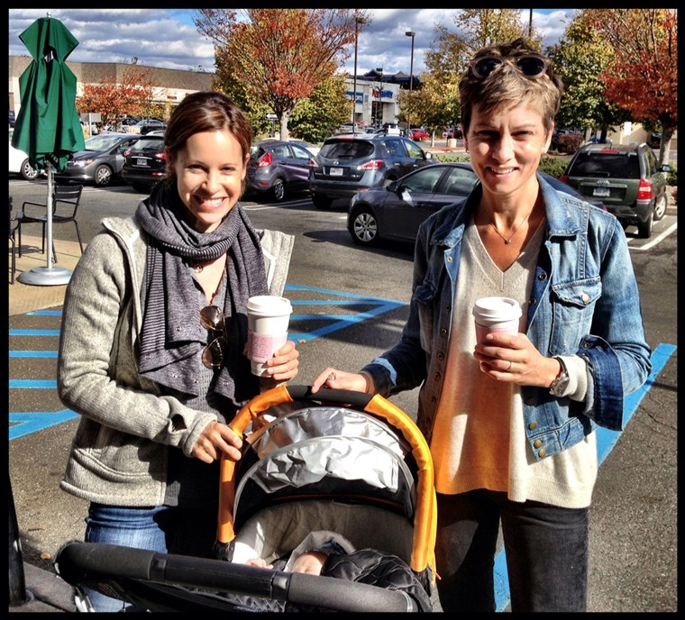 Idő to refill those coffee cups... baby number two is on the way for Jenna Wolfe and Stephanie Gosk!
