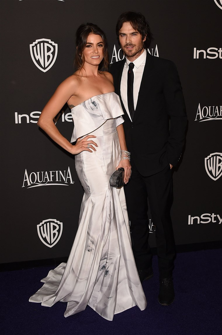 Slika: FILE: Ian Somerhalder And Nikki Reed Marry 2015 InStyle And Warner Bros. 72nd Annual Golden Globe Awards Post-Party - Arrivals