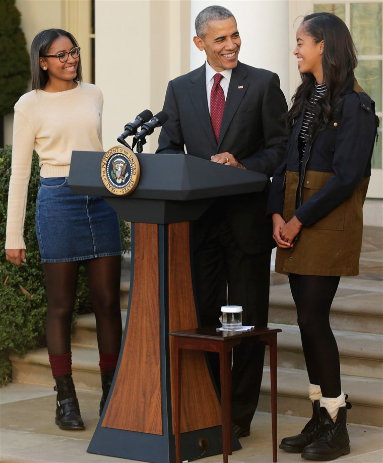 predsjednik Obama with daughters Malia and Sasha from November 2015