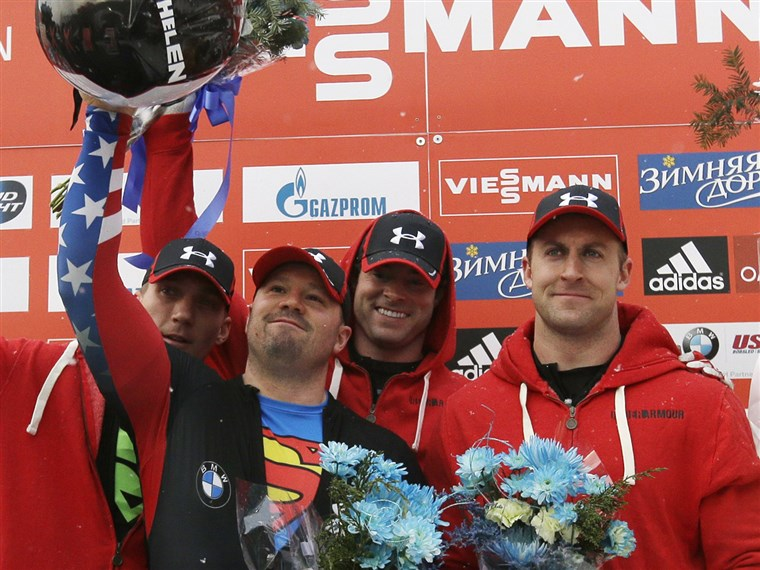 István Holcomb and his team are the gold medal favorites in the four-man bobsled event at the upcoming Winter Olympics in Sochi after winning gold at the 2010 Olympics in Vancouver.