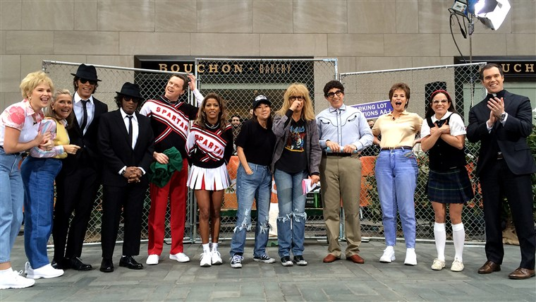 whole TODAY gang dresses up as famous