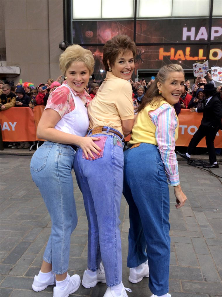 Savannah Guthrie, Jenna Bush Hager and Meredith Vieira in the Mom Jeans digital short.