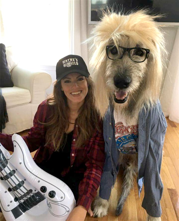 Wayne's World Halloween dog costume