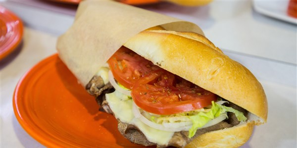 फिली Cheesesteak Hoagie