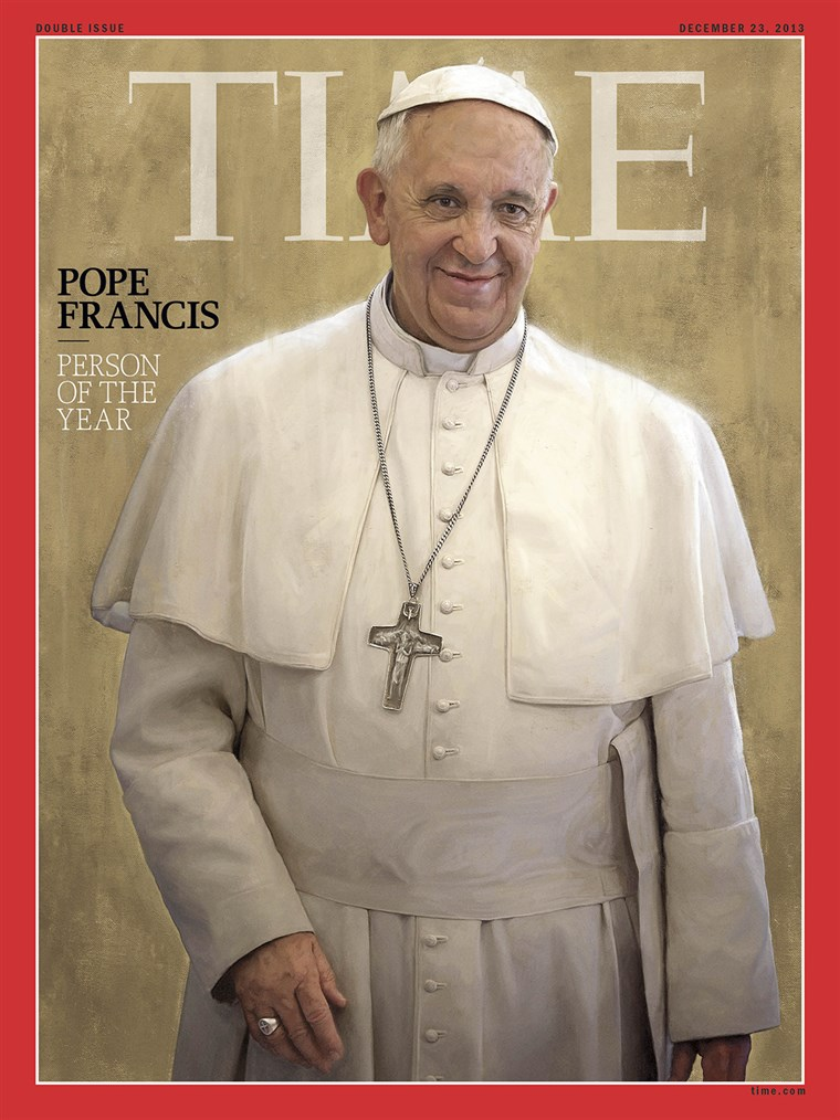पोप Francis was chosen by the magazine for his impact on the world and news in 2013.
