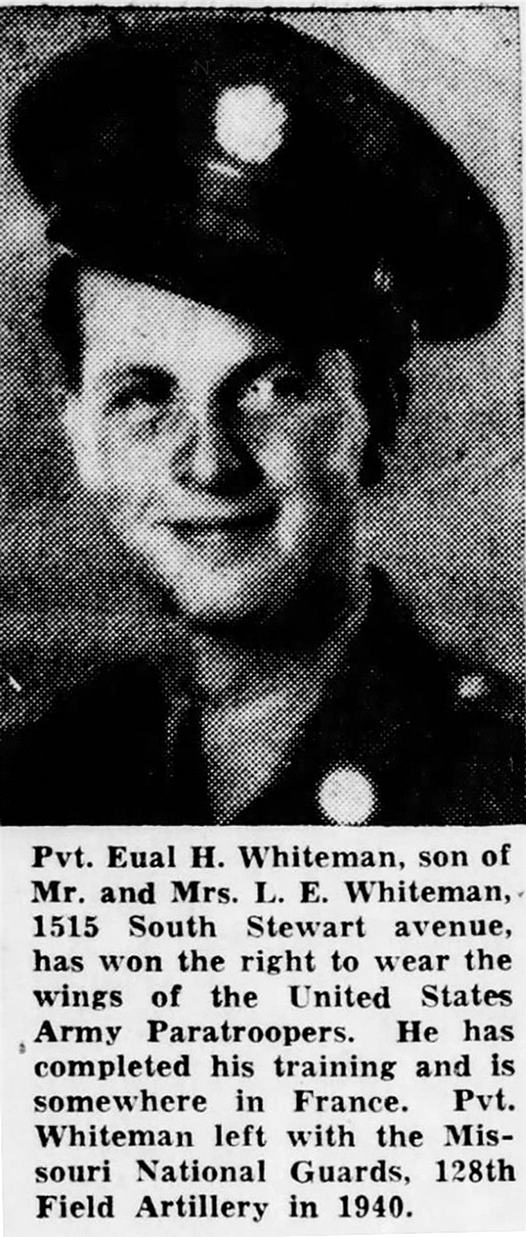 Eual Whiteman, Purple Heart medal reunites with veteran's family